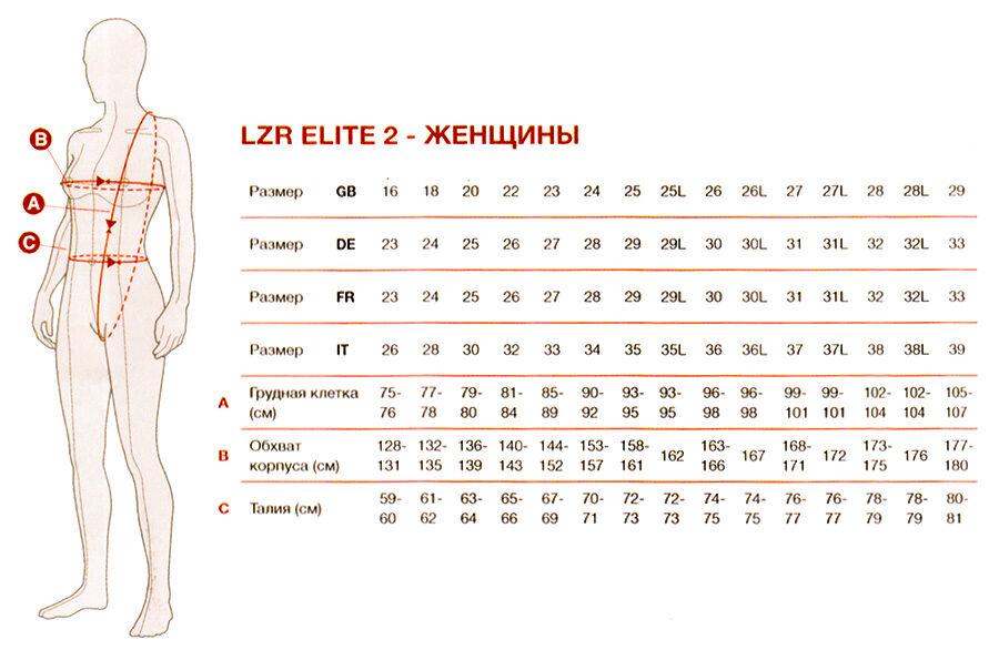 LZR elite 2 женщины